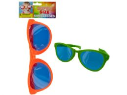 72 Units of Super Size Sunglasses - Novelty & Party Sunglasses