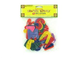 72 Units of Crafting Felt Letters - Craft Kits