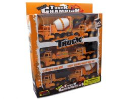 6 Units of Friction Powered Construction Trucks - Cars, Planes, Trains & Bikes
