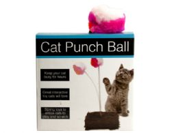 30 Units of Cat Punch Ball Toy With Furry Base - Pet Toys