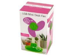 24 Units of Usb Mini Flower Shape Desk Fan - Home Accessories