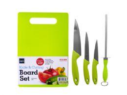 12 Units of Knife & Cutting Board Set - Kitchen Utensils