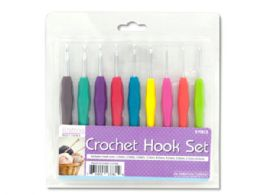 12 Units of Crochet Hook Set With Colored Handles - Hooks