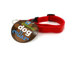 72 Units of Reflective Woven Dog Collar - Pet Collars and Leashes