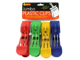 72 Units of Jumbo Plastic Clips - Clips and Fasteners