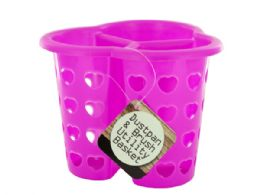 72 Units of Three-Compartment Heart Design Utility Basket - Storage Holders and Organizers