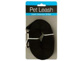 24 Units of Extra Long Nylon Dog Leash - Pet Collars and Leashes