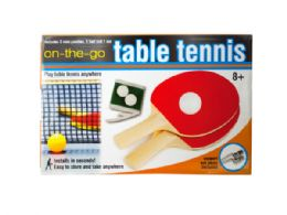 12 Units of Portable Table Tennis Set - Dominoes & Chess