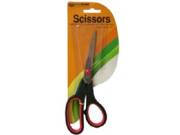 72 Units of Stainless Steel Scissors with Plastic Handles - Scissors
