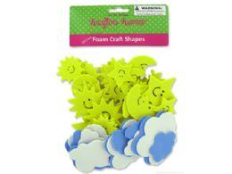 72 Units of Sky Foam Craft Shapes - Craft Kits
