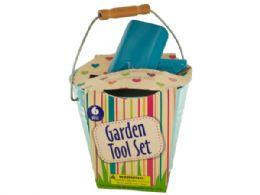 12 Units of Garden Tool Set in Bucket - Buckets & Basins