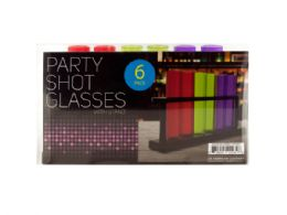 24 Units of Test Tube Party Shot Glasses With Stand - Party Favors