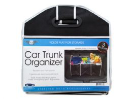 12 Units of Three Section Auto Trunk Organizer - Storage Holders and Organizers