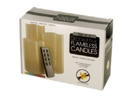 6 Units of Vanilla Scented Flameless Candles Set with Remote - Candles & Accessories