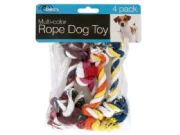 54 Units of MultI-Color Rope Dog Toy Set - Pet Toys