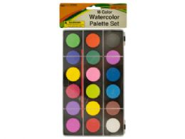 36 Units of Watercolor Paint Palette Set with Brush - Paint, Brushes & Finger Paint