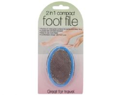 60 Units of 2 In 1 Compact Foot File - Manicure and Pedicure Items