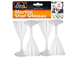 54 Units of Plastic Martini Shot Glasses - Disposable Cups