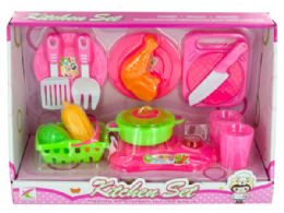 12 Units of Kids Cooking Play Set - Girls Toys