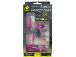 18 Units of HandS-Free Stereo Headphones - Headphones and Earbuds
