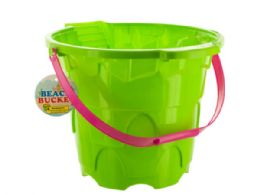 30 Units of Large Castle Shape Beach Bucket - Buckets & Basins