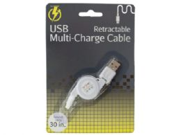 60 Units of iPhone Retractable USB Multi-Charge Cable - Cell Phone Accessories
