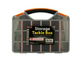 12 Units of Storage Tackle Box With 18 Compartments - Storage Holders and Organizers