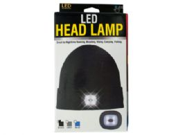 12 Units of Unisex Led Head Lamp Beanie - Camping Gear