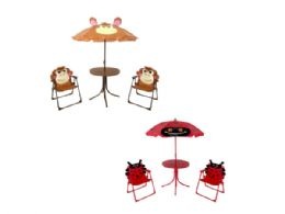 3 Units of Kids Ladybug & Monkey Patio Set - Garden Decor