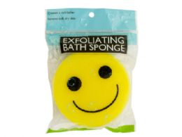 60 Units of Emoticon Bath Sponge - Scouring Pads & Sponges