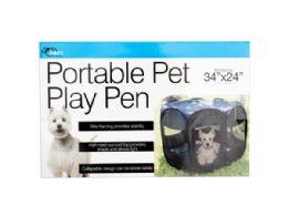 3 Units of Portable Pet Play Pen - Pet Accessories