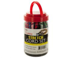 12 Units of Heavy Duty Stretch Cord Set - Bungee Cords
