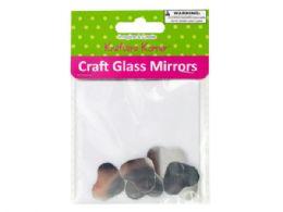 120 Units of Small Heart Shape Craft Glass Mirrors - Craft Kits