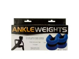 12 Units of 1 Pound Adjustable Ankle Weights - Workout Gear