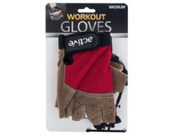 12 Units of Medium Size Breathable Workout Gloves - Workout Gear