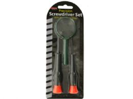 48 Units of Precision Screwdriver Set With Magnifying Glass - Screwdrivers and Sets