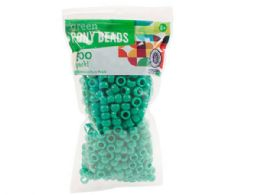 120 Units of Green Plastic Pony Beads - Craft Beads