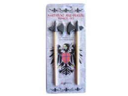 120 Units of Medieval Axe Erasers Pencil Set - Pencils