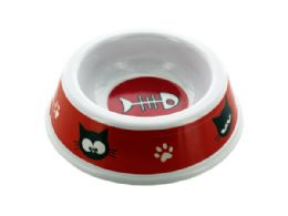 72 Units of Cat Print Pet Dish - Pet Accessories