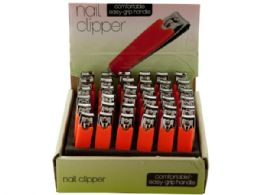 108 Units of Nail Clipper with Textured Handle Countertop Display - Nail Polish