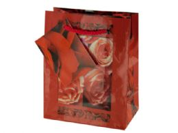 108 Units of Small Red Rose Gift Bag - Gift Bags