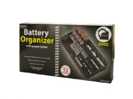 6 Units of Battery Organizer With Power Tester - Storage Holders and Organizers