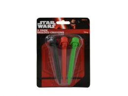 72 Units of Star Wars Molded Crayons Set - Chalk,Chalkboards,Crayons