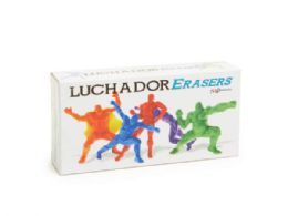 72 Units of Luchador Erasers Set - Erasers