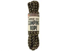 24 Units of Camouflage Camping Rope - Camping Gear