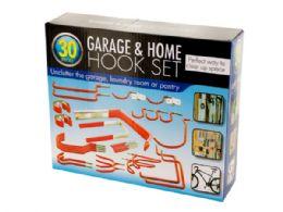6 Units of Assorted Garage & Home Hook Set - Hooks