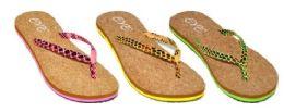 36 Units of Girls Assorted Color Flip Flops - Girls Flip Flops