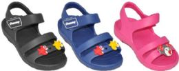36 Units of KIDS ASSORTED COLOR WATER SHOE WITH FISH - Unisex Footwear