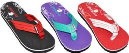 48 Units of Assorted Color Princess Flip Flops - Boys Flip Flops & Sandals