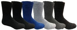 6 Units of Yacht & Smith Men's Warm Cozy Fuzzy Socks, Size 10-13 - Men's Fuzzy Socks